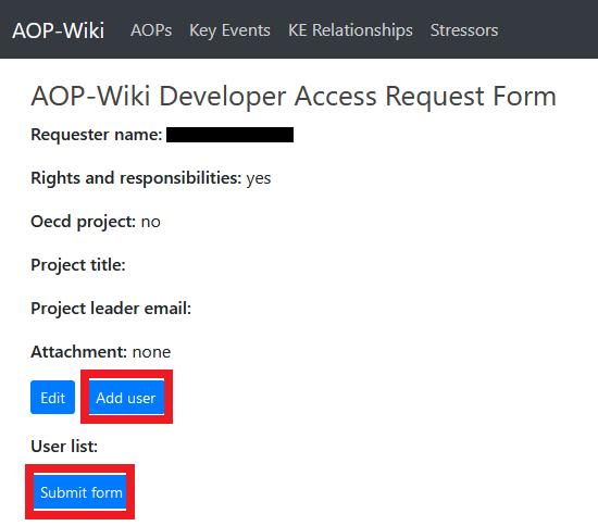 Wiki dev access - add user
